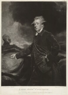 Lord Richard Cavendish, by John Raphael Smith, after  Sir Joshua Reynolds - NPG D32775