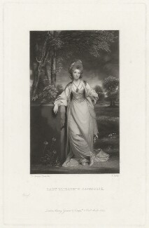 Elizabeth (née Compton), Countess of Burlington, by James Scott, after  Sir Joshua Reynolds - NPG D32777
