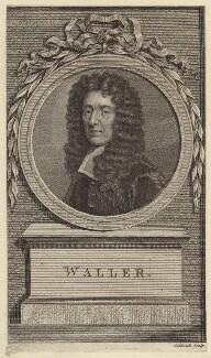 Edmund Waller, by James Caldwall, after  Sir Godfrey Kneller, Bt - NPG D30146
