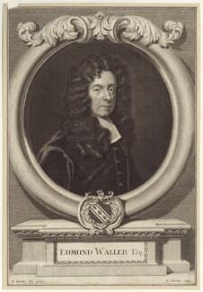 Edmund Waller, by George Vertue, after  Sir Godfrey Kneller, Bt - NPG D30150