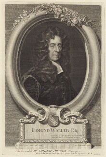 Edmund Waller, by George Vertue, after  Sir Godfrey Kneller, Bt - NPG D30151