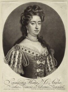 Queen Mary II, by and published by John Smith, after  Sir Godfrey Kneller, Bt - NPG D32779