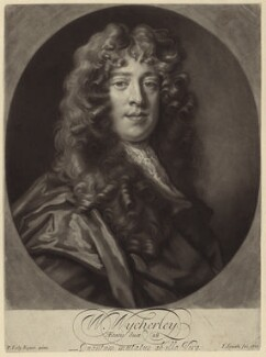 William Wycherley, by John Smith, after  Sir Peter Lely - NPG D30160