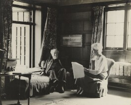 Sidney James Webb, Baron Passfield; Beatrice Webb, by Unknown photographer - NPG P1292(59)
