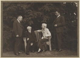 Ivan Mikhailovich Maisky; Sidney James Webb, Baron Passfield; Beatrice Webb; Kirill Vasilyevich Novikov, by Unknown photographer - NPG P1292(61)