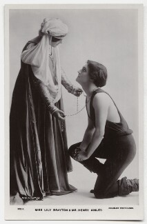 Henry Hinchliffe Ainley and Lily Brayton as Orlando and Rosalind in 'As You Like It', by Rita Martin, published by  J. Beagles & Co, 1911 - NPG x131443 - © National Portrait Gallery, London