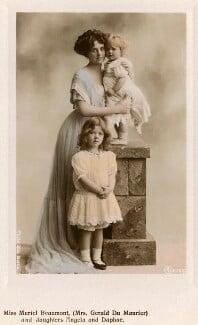 Muriel Beaumont', Lady Du Maurier; Angela Du Maurier and Daphne Du Maurier, by Rita Martin, published by  Aristophot Co Ltd - NPG x131446