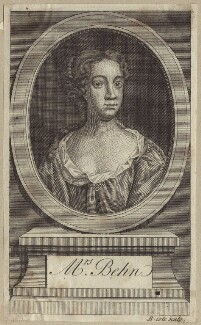 Aphra Behn, by B. Cole, after  John Riley - NPG D30188