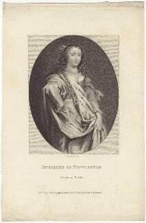 Margaret Cavendish (née Lucas), Duchess of Newcastle upon Tyne, by E. Bocquet, after  Abraham Diepenbeeck - NPG D30191