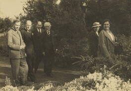 Sidney James Webb, Baron Passfield with others, by L. Vulb, 1936 - NPG P1292(71) - © National Portrait Gallery, London