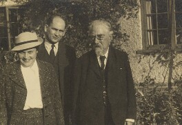 Sidney James Webb, Baron Passfield with two others, by L. Vulb - NPG P1292(76)