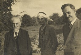 Sidney James Webb, Baron Passfield; Beatrice Webb and an unknown man, by L. Vulb - NPG P1292(77)