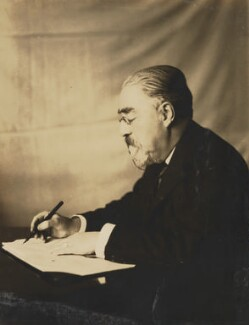 Sidney James Webb, Baron Passfield, by Unknown photographer - NPG P1292(81)