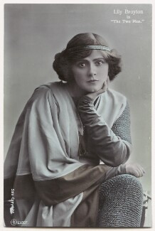 Lily Brayton as Elsa in 'The Two Pins', by Rita Martin, published by  Aristophot Co Ltd - NPG x131456
