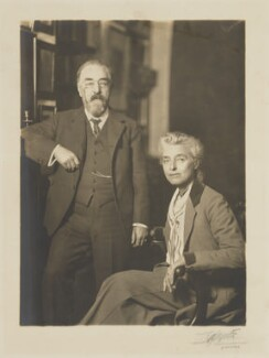 Sidney James Webb, Baron Passfield; Beatrice Webb, by Lafayette - NPG P1292(85)