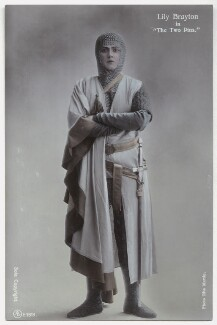 Lily Brayton as Elsa in 'The Two Pins', by Rita Martin, published by  Aristophot Co Ltd - NPG x131460