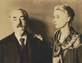 Sidney James Webb, Baron Passfield; Beatrice Webb, by Unknown photographer - NPG P1292(89)
