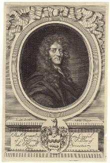 Sir Paul Rycaut, by Robert White, after  Sir Peter Lely - NPG D30202