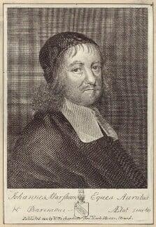 Sir John Marsham, after Robert White, published by  William Richardson - NPG D30206
