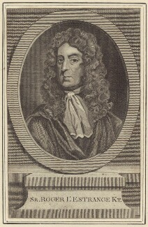 Sir Roger L'Estrange, after Sir Godfrey Kneller, Bt - NPG D30207