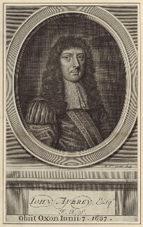John Aubrey, by Michael Vandergucht, after  William Faithorne, published 1719 - NPG D30214 - © National Portrait Gallery, London