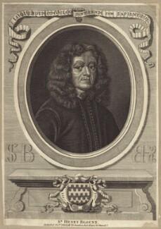 Sir Henry Blount, after David Loggan, published by  William Richardson - NPG D30220