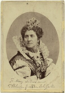 Adelaide Ristori as Queen Elizabeth in 'Elizabeth, Queen of England', by Thomas Houseworth & Co, 1870s - NPG x19011 - © National Portrait Gallery, London