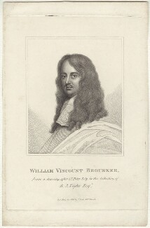 William Brouncker, 2nd Viscount Brouncker, published by John Scott, after  Sir Peter Lely - NPG D30333