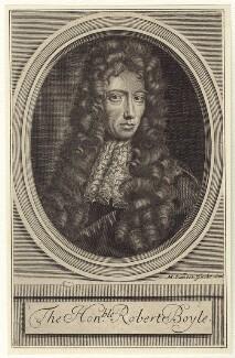 Robert Boyle, by Michael Vandergucht, after  Johann Kerseboom, late 17th to early 18th century - NPG D30344 - © National Portrait Gallery, London