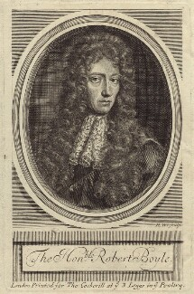 Robert Boyle, by Robert White, after  Johann Kerseboom - NPG D30345