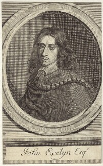 John Evelyn, after Robert Nanteuil - NPG D30350