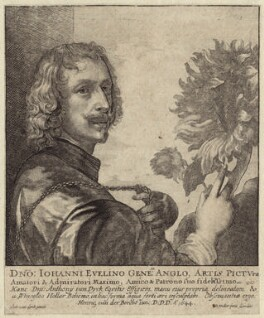Sir Anthony van Dyck, by Wenceslaus Hollar, after  Sir Anthony van Dyck, 1644 - NPG D30353 - © National Portrait Gallery, London