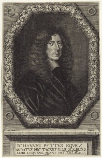 Sir John Pettus, by William Sherwin - NPG D30358
