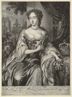 Queen Mary II, by Jan Verkolje, published by  Nicolaes Visscher II, after  Unknown artist - NPG D32782