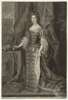 Queen Mary II, by John Faber Jr, published by  John Cooper, after  Sir Godfrey Kneller, Bt - NPG D32785