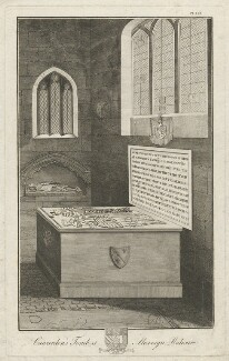 Cawarden's Tombe at Mavesyn Ridware (Thomas Cawarden; Anne Cawarden), by Richard Woollett Basire, after  T. Barritt - NPG D32789