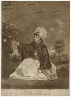Isabella Caroline Campbell (née Howard), Lady Cawdor of Castlemartin, by Valentine Green, after  Sir Joshua Reynolds - NPG D32790