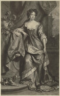 Queen Anne when Princess of Denmark, by John Smith, after  Willem Wissing, after  Jan van der Vaart - NPG D32794