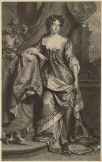 Queen Anne when Princess of Denmark, by John Smith, after  Willem Wissing, after  Jan van der Vaart, 1687 - NPG D32794 - © National Portrait Gallery, London