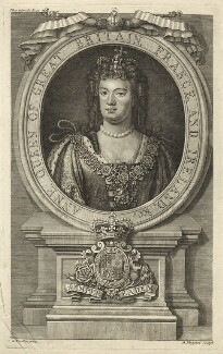 Queen Anne, by Robert Sheppard, after  Sir Godfrey Kneller, Bt - NPG D32796