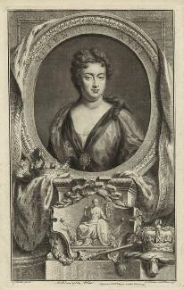 Queen Anne, by Jacobus Houbraken, published by  John & Paul Knapton, after  Sir Godfrey Kneller, Bt - NPG D32797