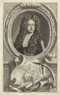 Prince George of Denmark, Duke of Cumberland, by Jacobus Houbraken, published by  John & Paul Knapton, after  Sir Godfrey Kneller, Bt - NPG D32799