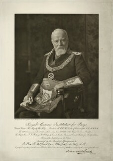 Sir (Thomas) Frederick Halsey, 1st Bt, by George W. Jones, after  Unknown photographer - NPG x18506