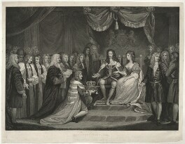 The Revolution, 1688 (King William III; Queen Mary II), by James Parker, published by  John Harris, after  James Northcote - NPG D32811