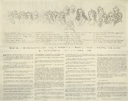 Description of the Convention-Parliament offering the Crown to the Prince and Princess of Orange, published by John Harris, after  Unknown artist, published 1790 - NPG D32812 - © National Portrait Gallery, London