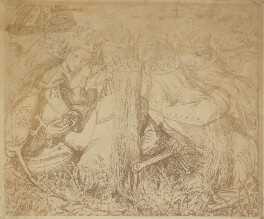 'King Arthur and the Weeping Queens', after Dante Gabriel Rossetti - NPG P1273(1a)