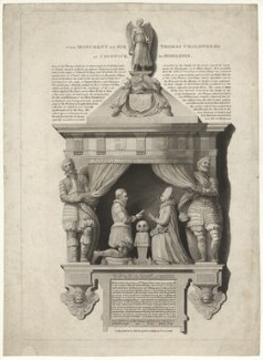 Monument of Sir Thomas Chaloner the Younger at Chiswick in Middlesex, published by Robert Wilkinson - NPG D32818