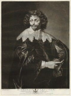 possibly Thomas Chaloner, by Richard Earlom, after  George Farington, after  Sir Anthony van Dyck - NPG D32820