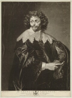 possibly Thomas Chaloner, by Richard Earlom, after  George Farington, after  Sir Anthony van Dyck - NPG D32821