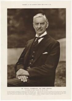 Neville Chamberlain, published by Illustrated London News, after  Vandyk - NPG D32828